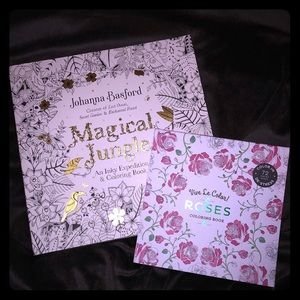 Other - Two adult coloring books- Magical Jungle & Roses